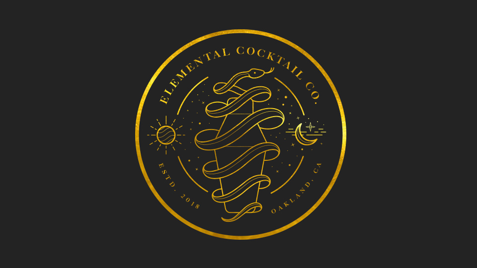 Elemental Cocktail Co. : Logo Design